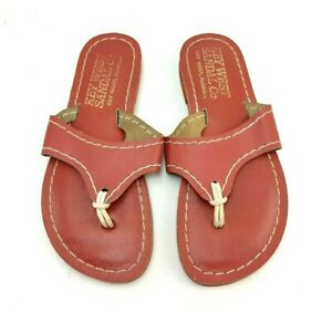 Kino Lily Sandals Red Women's Size US 6 Made In Key West Florida Used Condition