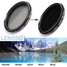 62 mm 62mm NDX Variable Range Neutral Density Fader Filter Adjustable LENSSO