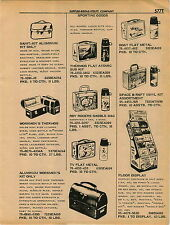 1961 ADVERT Thermos Brand Lunch Kits Store Display Atomic Sub TV Boat Roy Rogers