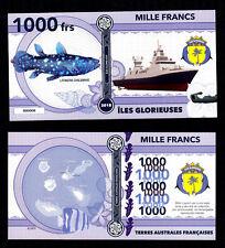 ILES GLORIEUSES ● TAAF / COLONIE ● BILLET POLYMER 1000 FRANCS ★ N.SERIE 000008