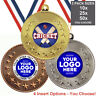 CRICKET METAL MEDALS 50mm, PACK OF 10, RIBBONS, INSERTS or OWN LOGO & TEXT