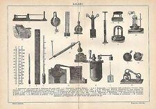 A6121 Calore - Strumenti e attrezzatura - Stampa Antica del 1924 - Incisione