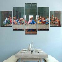 The Last Supper Jesus Christ 12 Disciples Canvas Prints Painting Wall Art 5PCS