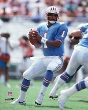 Warren Moon DROP BACK c.1989 Houston Oilers Premium NFL POSTER Print