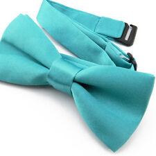 Noeud Papillon pour Enfant en Satin Bleu Turquoise - Children Blue Bowtie