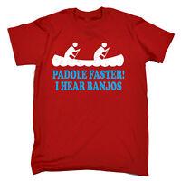 Paddle Faster I Hear Banjos T-SHIRT tee music funny birthday gift present him