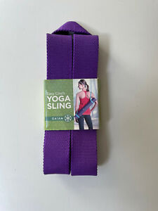 Gaiam Yoga Mat Carry Sling Fits All Mats Purple Durable And Comfortable