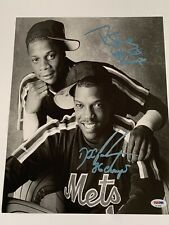 Dwight Gooden & Darryl Strawberry Autographed 11 x 14 Photograph PSA