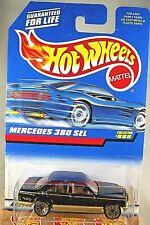 1997 Vintage Hot Wheels Collector #889 MERCEDES 380 SEL Black/Gold wGold Lace Sp