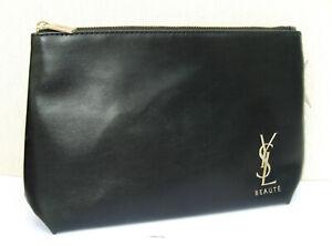 Yves Saint Laurent Soft Black Faux Leather Beaute Make Up/ Purse