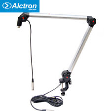 Microphone Suspension Boom Scissor Arm Stand Desk Holder Mount w/3 Pin XLR Cable