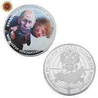 WR Collectible Vladimir Putin Funny Commemorative Coin 999 Silver Novelty Gifts
