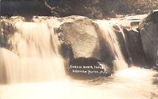 Grafton Notch Maine~Screw Auger Falls~Real Photo Postcard~RPPC 1940s SHARP!