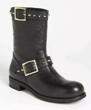 Jimmy Choo Dash Black Biker Boots Size 36.5 RRP £695 - New Without Box