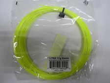 **NEW** LOT OF 5 SETS HEAD LYNX 17 (1.25) YELLOW TENNIS STRING BULK/DEMO PACKAGE
