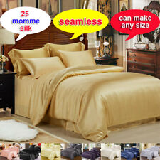 25MM 100% Silk Seamless Comforter Cover Bottom Sheet Top Sheet & Set Full Size