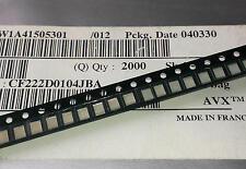 10 Stück AVX 100nF/63V SMD MKP Film Kondensatoren Case 1210  (M1585)