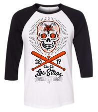"Houston Astros ""Dia De Los Stros"" World Series 2017 Raglan Tshirt unisex MEDIUM"