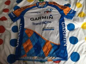 Adult Genuine Pearl Izumi Team Garmin Racing Cycling Jersey Size Large Vgc