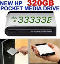 NEW HP 320GB HP POCKET MEDIA DRIVE USB EXTERNAL 2 YEAR WARRANTY MSRP $499+