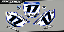 Yamaha UFO Restyled YZ125-250 Pre Printed Number plate Backgrounds Accel SERIES