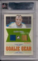05/06 ITG Ultimate Memorabilia   Goalie Gear Jersey/Glove  Glenn Hall 1/25