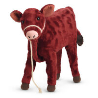 "NEW American Girl Doll CAROLINE'S CALF GARNET 10"" Pet Cow Rope Halter Lead BAG"