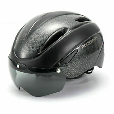 ROCKBROS Cycling Helmet Riding Sport Helmet with Magnetic Goggle 57-62cm Black