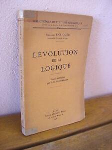 Federigo Enriquès : L'évolution de la logique 1926