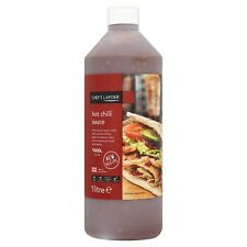 Hot Chilli Sauce 1ltr | Chefs Larder | Kebab,Chips,Burger Sauce Bottle | Tasty