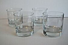 Set of 4 Anchor Hocking Heavy Base Rocks Old Fashioned Whiskey Glasses 9 oz