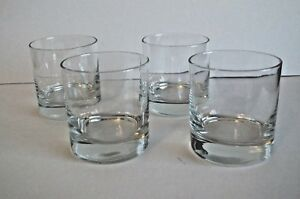 Set of 4 Anchor Hocking Heavy Base Rocks Old Fashioned Whiskey Glasses 9 oz