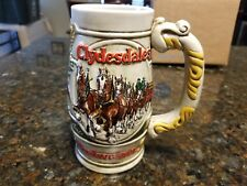 BUDWEISER CLYDESDALE HOLIDAY BEER STEIN MUG CERAMARTE MADE IN BRAZIL HANDCRAFTED