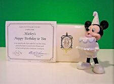 LENOX MICKEY'S HAPPY BIRTHDAY TO YOU November Topaz NEW in BOX with COA