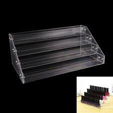Makeup Nail Polish Display Stand Organizer Clear Holder Rack Acrylic 4 Tiers CWB
