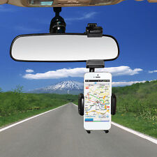 Universal 360° Car Rearview Mirror Mount Holder Stand Cradle For Cell Phone GPS.