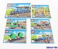 LEGO CITY MANUAL DE INSTRUCCIONES 60052 - Tren carga Locomotora NUEVO NO piezas
