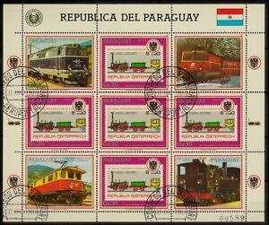 Kleinbogen  Paraguay 1987 MiNr.  4185 Eisenbahn , train , tren  gestempelt
