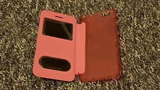 Pink hard plastic flip and holder case cover pouch for Apple iPhone 6 6S