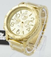 Nixon 48-20 Chrono A486-502 All Gold  Brand New W/ Extra Link