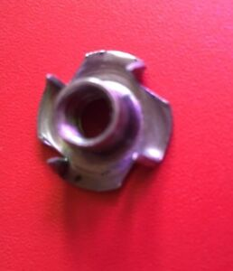 T Nut with 4 prongs size M6, M8 and M10