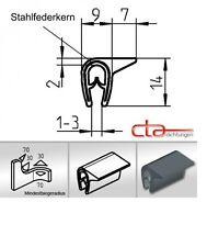 1 m Kantenschutz Kantenschutzprofil Dichtprofil KB 1- 3 mm PVC Anthrazit 1C10-09