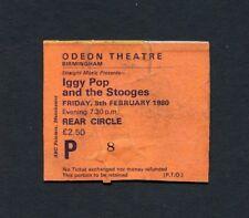 1980 Iggy Pop and the Stooges concert ticket stub Birmingham UK Soldier