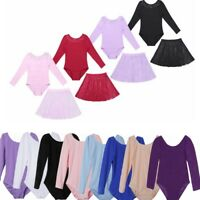 Girl Gymnastic Ballet Leotard Tutu Dress Ballerina Dance Wear Outfit Costume Kid