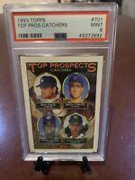 1993 Topps Mike Piazza Inaugural Rockies #701 PSA 9 Mint Dodgers HOF