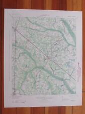 Varnville South Carolina 1944 Original Vintage USGS Topo Map