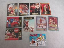 Lot Of Coca-Cola Trading Cards ~ 10 Rare Cards Total ~ Near Mint