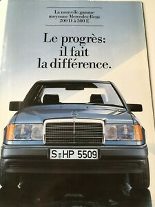 Catalogue / Brochure MERCEDES 200 / 300 de 1984 FR