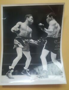 Vintage 7x9 Boxing Photo: Henry Armstrong vs Barney Ross. 1938.