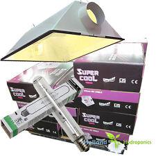 "600w Air Cool Vent 6"" Hydroponics HPS Grow Light reflector Son-T Plus Lamp Bulb"
